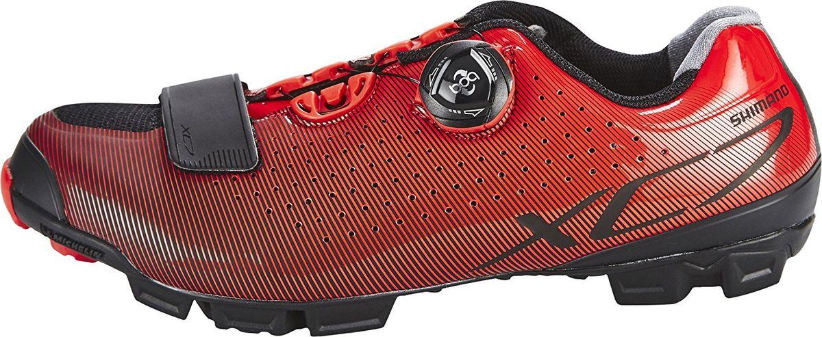 Велотуфли мужские Shimano SH-XC700, цвет: красный. Размер 44