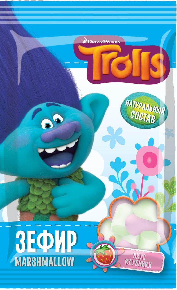 Конфитрейд Trolls зефир в пакете, 25 г fluff зефир кремовый marshmallow с ванильным вкусом 213 г