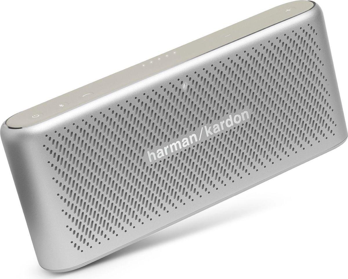 Беспроводная колонка Harman Kardon Traveler, Silver harman kardon aura emerald беспроводная bluetooth аудио сабвуфер компьютер телевизор малый громкоговоритель всенаправленная звуковая стена уголь черный