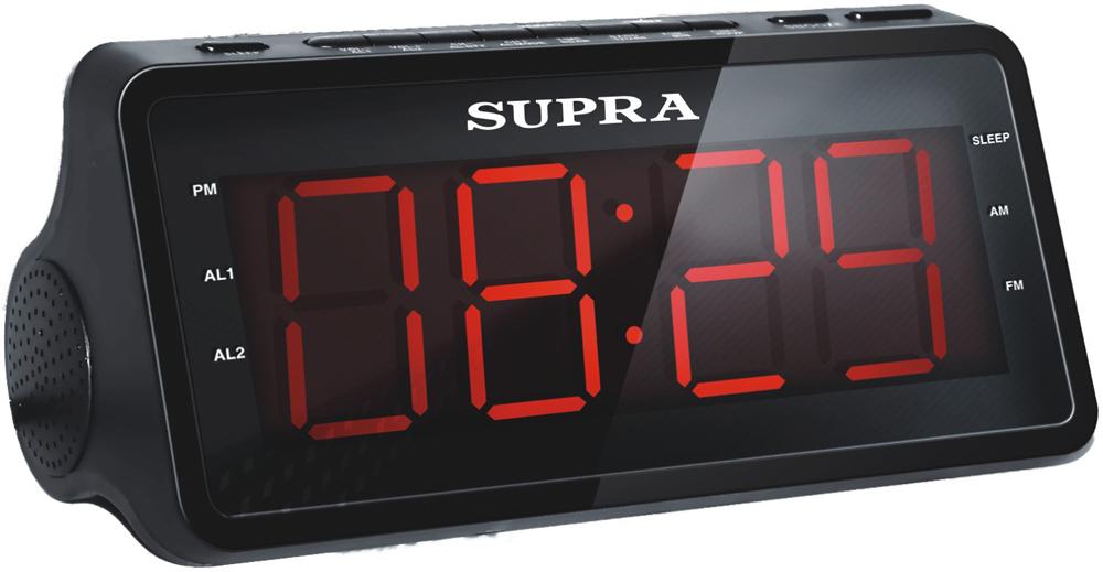 цена на Supra SA-46FM, Black Red радиочасы с будильником