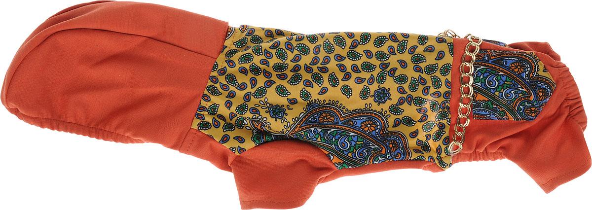 Комбинезон для собак Pret-a-Pet Цепочки, цвет: коричневый, желтый. Размер XS куртка для мальчика huppa janek цвет синий 18170004 93335 размер xs 158 164