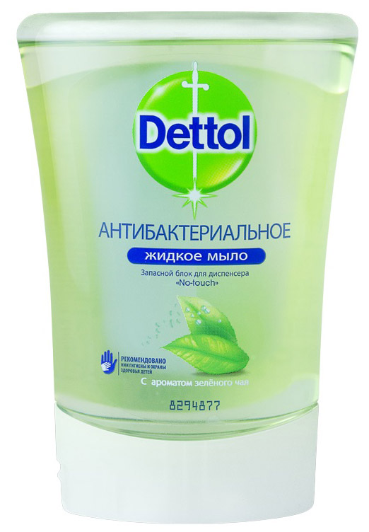 """Запасной блок жидкого мыла """"Dettol"""", с ароматом зеленого чая и имбиря, 250 мл"""