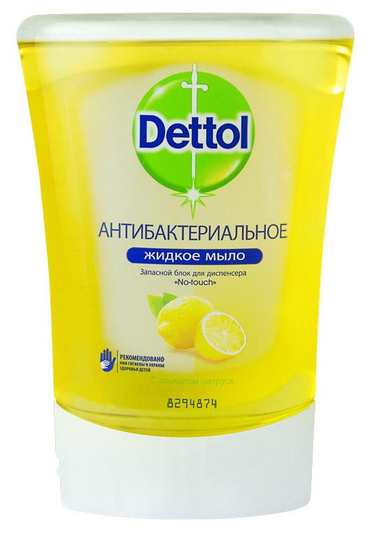 """Запасной блок жидкого мыла """"Dettol"""", с ароматом цитруса, 250 мл"""