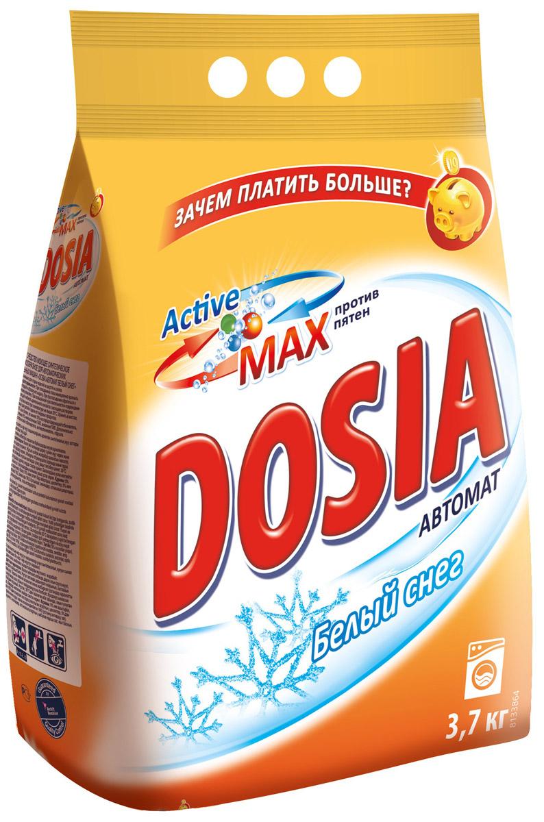 Стиральный порошок Dosia Active Max. Белый снег, 3,7 кг средство для чистки барабанов стиральных машин nagara 5 х 4 5 г