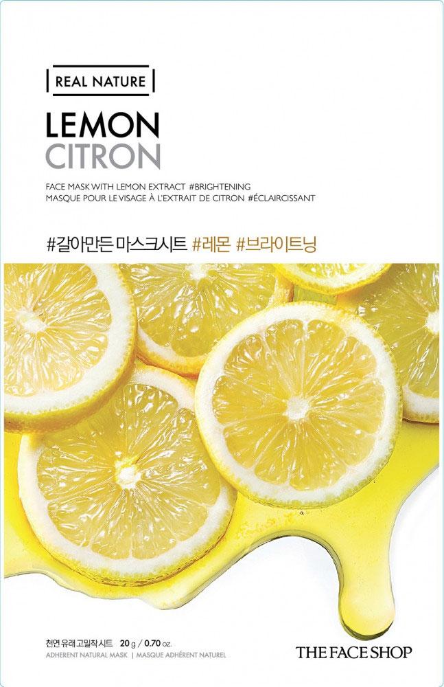 The Face Shop Тканевая маска для лица с экстрактом лимона REAL NATURE, 20 г