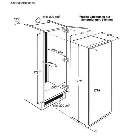 Холодильник Electrolux ERN 93213AW, белый Electrolux