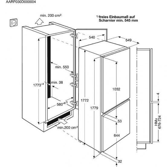 Холодильник Electrolux ENN 92801BW, белый Electrolux