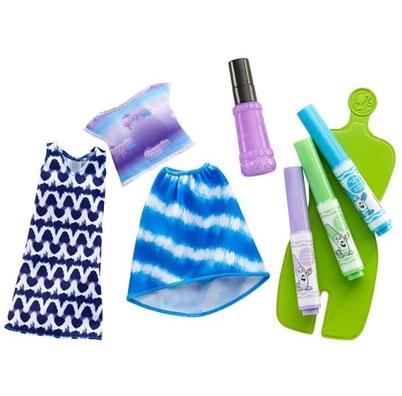 Barbie Игровой набор Crayola Сделай моду сам цвет голубой сиреневый салатовый