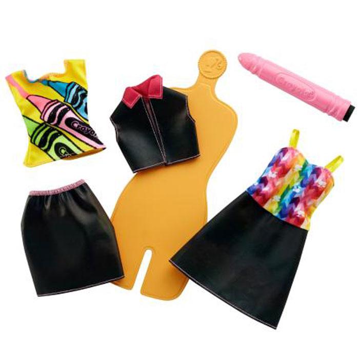 Barbie Игровой набор Crayola Раскрась наряды crayola llc crayola oil pastels 28 color set set of 12