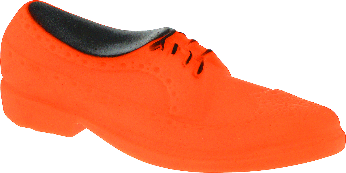Игрушка для собак Уют Мужской туфель, цвет: оранжевый, 16 x 6 x 5,2 см игрушка для собак уют кеды цвет салатовый 10 x 5 x 4 см