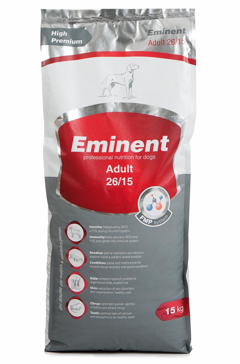 """Корм сухой Eminent """"Суперпремиум. Adult"""" для взрослых собак мелких и средних пород, 15 кг"""