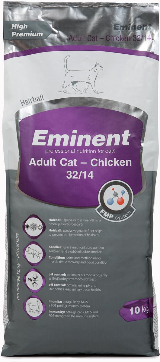 Корм сухой Eminent Суперпремиум. Adult Cat для взрослых кошек, с курицей, 10 кг купить ростки пшеницы для еды