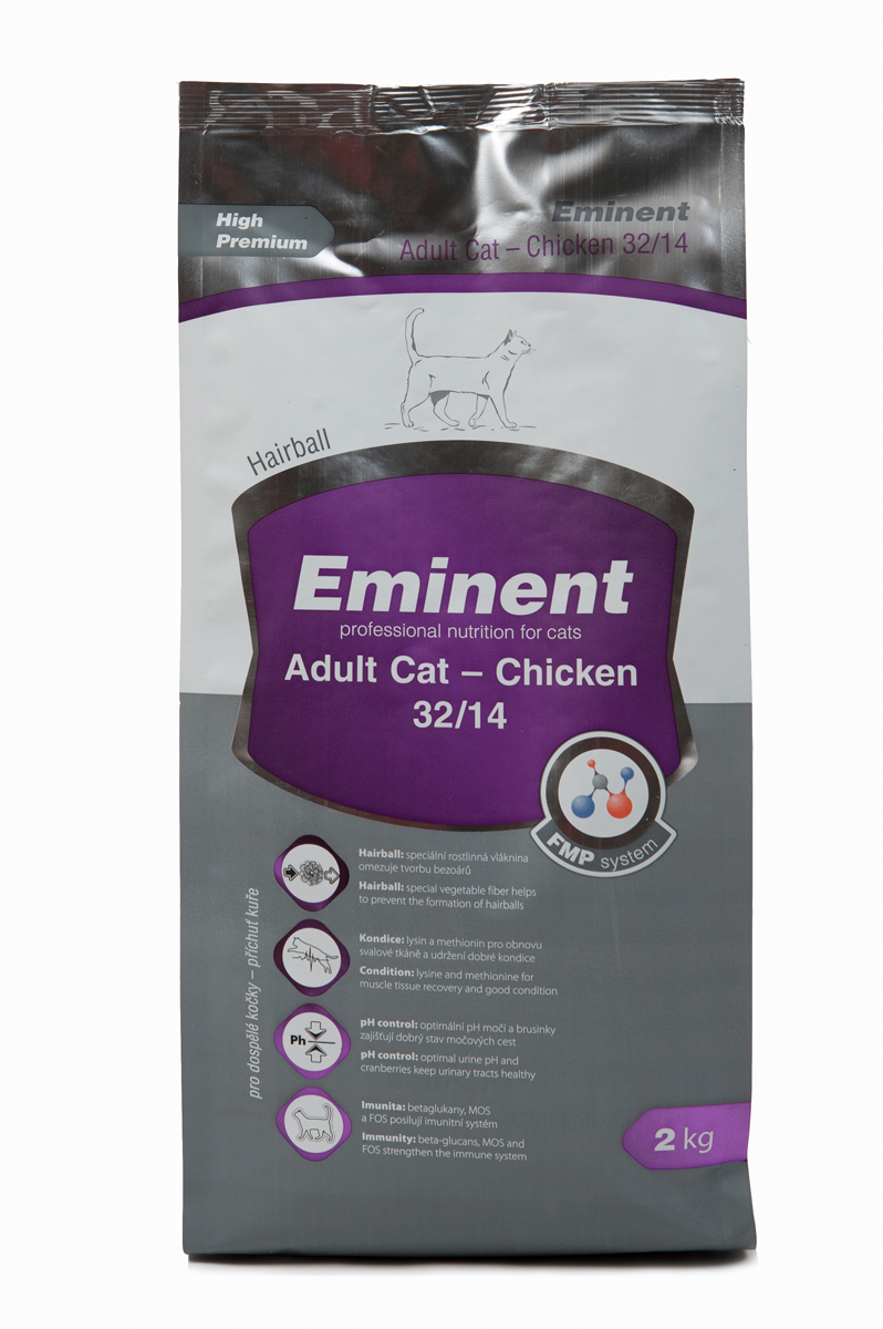 Корм сухой Eminent Суперпремиум. Adult Cat для взрослых кошек, с курицей, 2 кг купить ростки пшеницы для еды