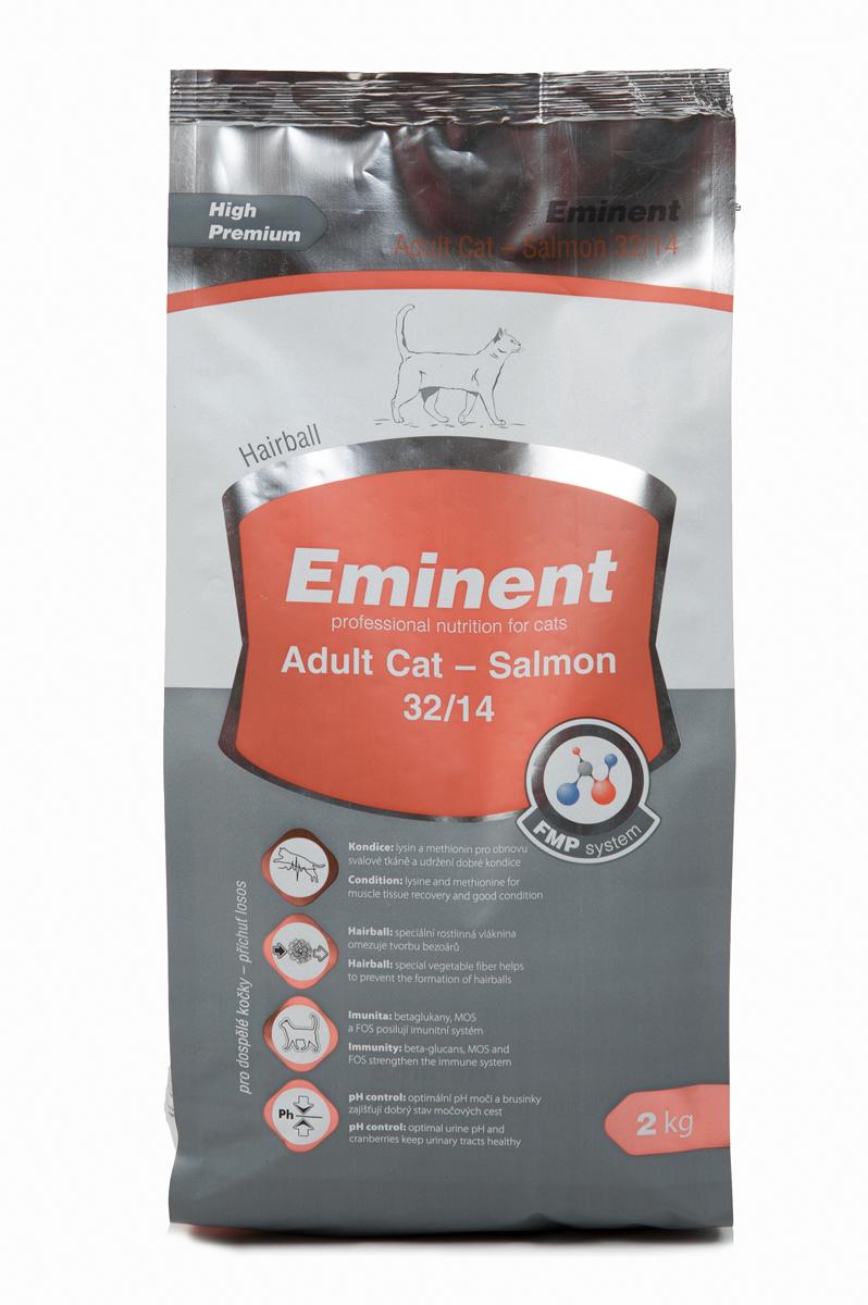 Корм сухой Eminent Суперпремиум. Adult Cat для взрослых кошек, с лососем, 2 кг купить ростки пшеницы для еды