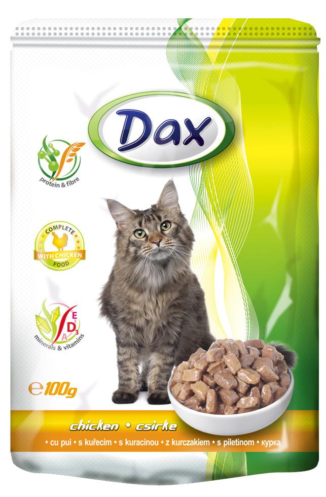 "Корм консервированный ""Dax"" для кошек, с курицей, 100 г"