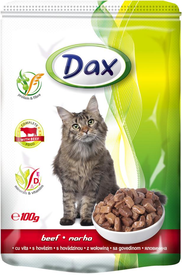 Корм консервированный Dax для кошек, с говядиной, 100 г мебель dax