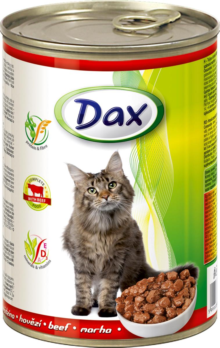 """Корм консервированный """"Dax"""" для кошек, с говядиной, 415 г"""