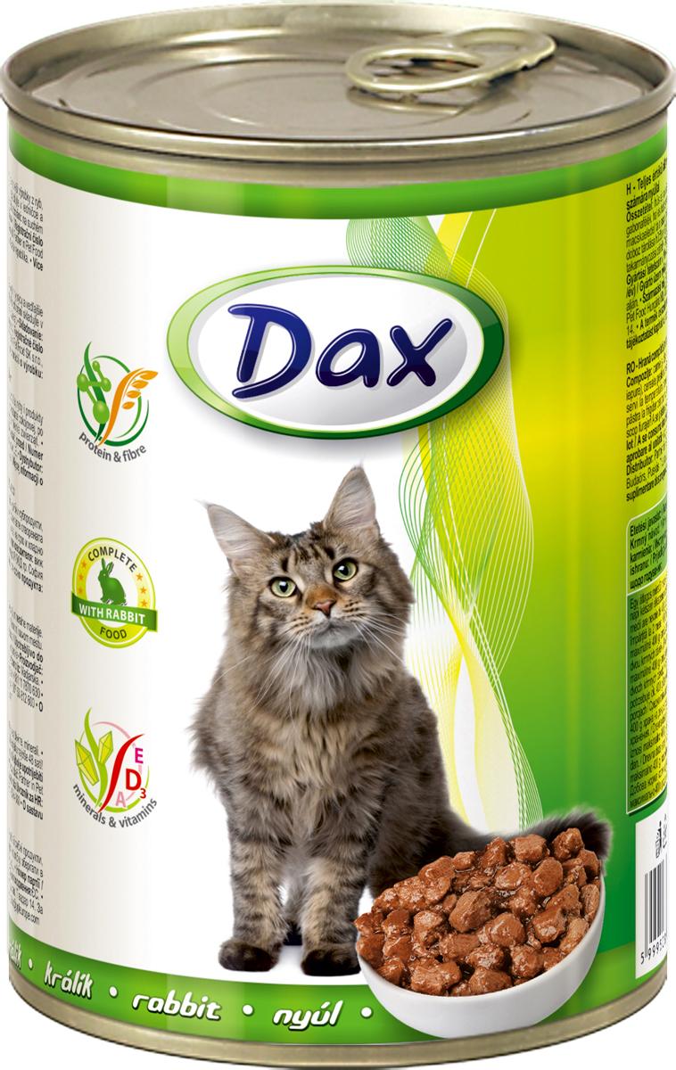 """Корм консервированный """"Dax"""" для кошек, с кроликом, 415 г"""