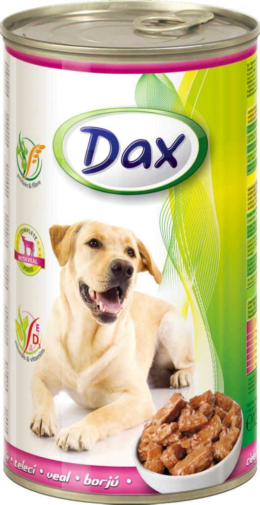 """Корм консервированный """"Dax"""" для собак, с телятиной, 1,24 кг"""