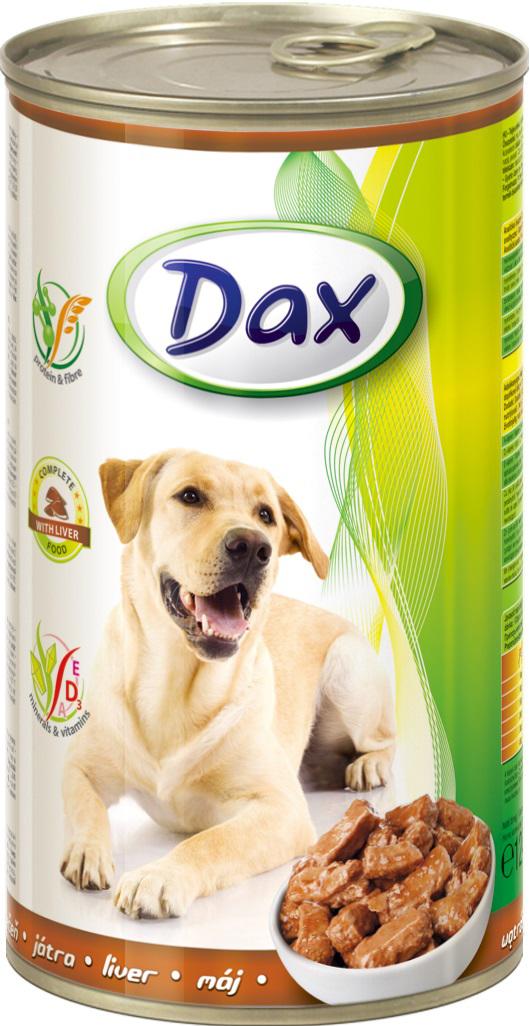 """Корм консервированный """"Dax"""" для собак, с печенью, 1,24 кг"""