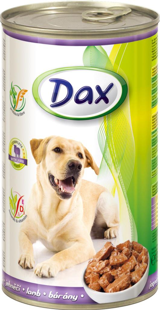 """Корм консервированный """"Dax"""" для собак, с ягненком, 1,24 кг"""
