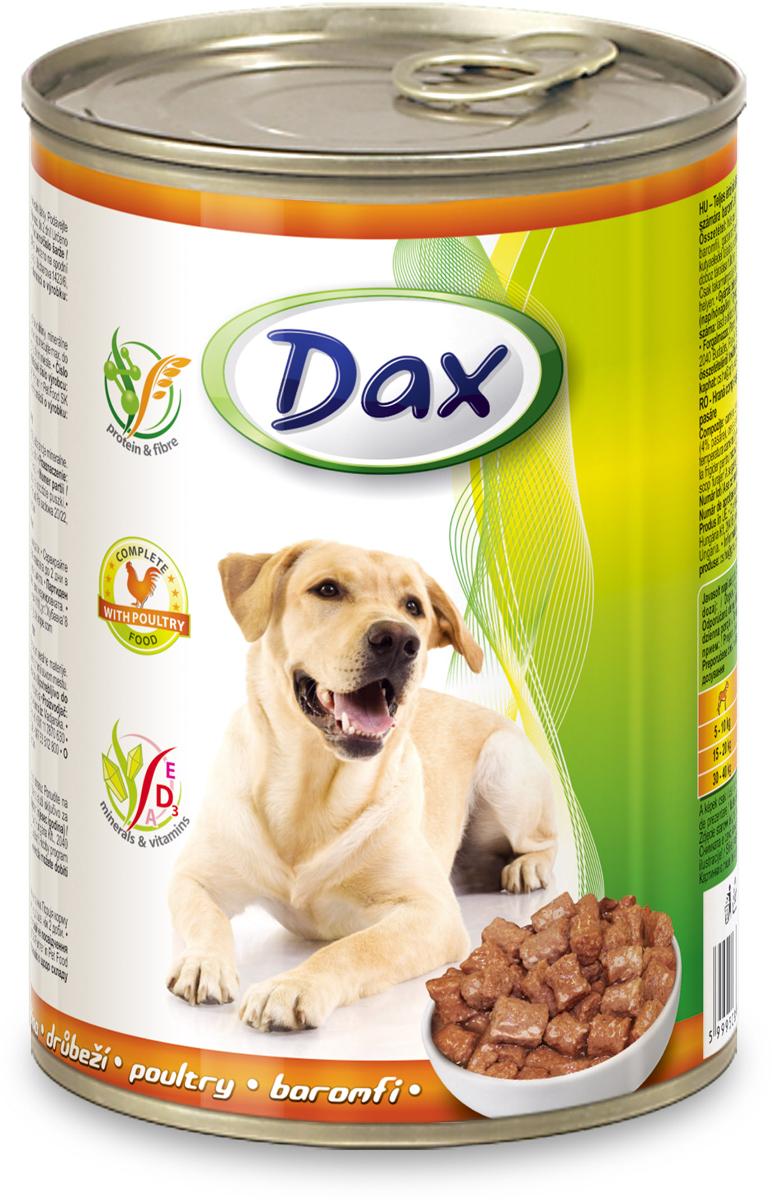 """Корм консервированный """"Dax"""" для собак, с домашней птицей, 1,24 кг"""