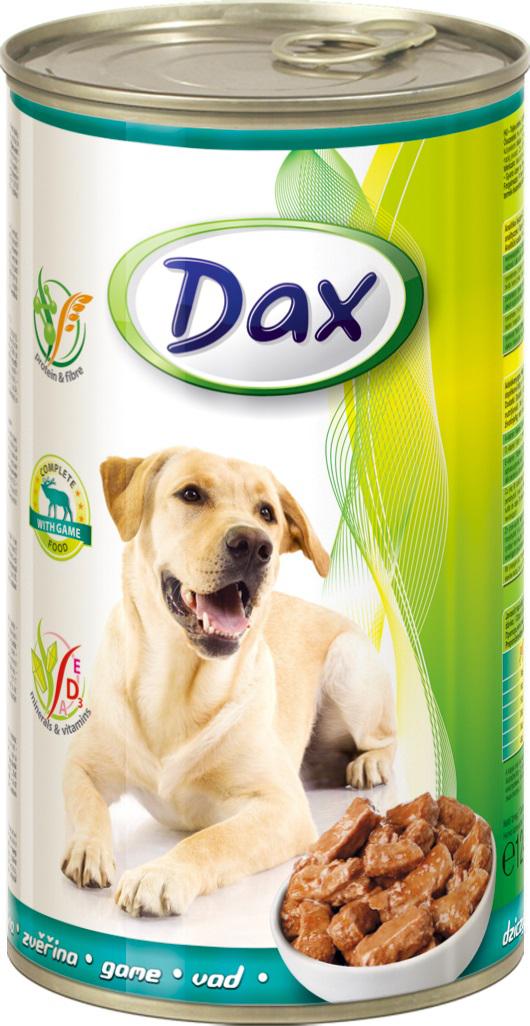"""Корм консервированный """"Dax"""" для собак, с дичью, 1,24 кг"""