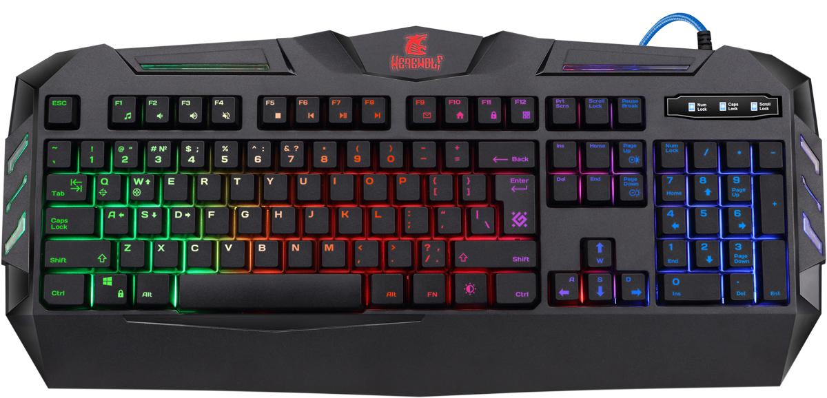 лучшая цена Игровая клавиатура Werewolf GK-120DL RU,RGB подсветка,19 Anti-Ghost