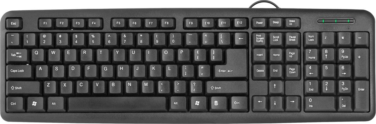 Клавиатура Defender HB-420, черный все цены