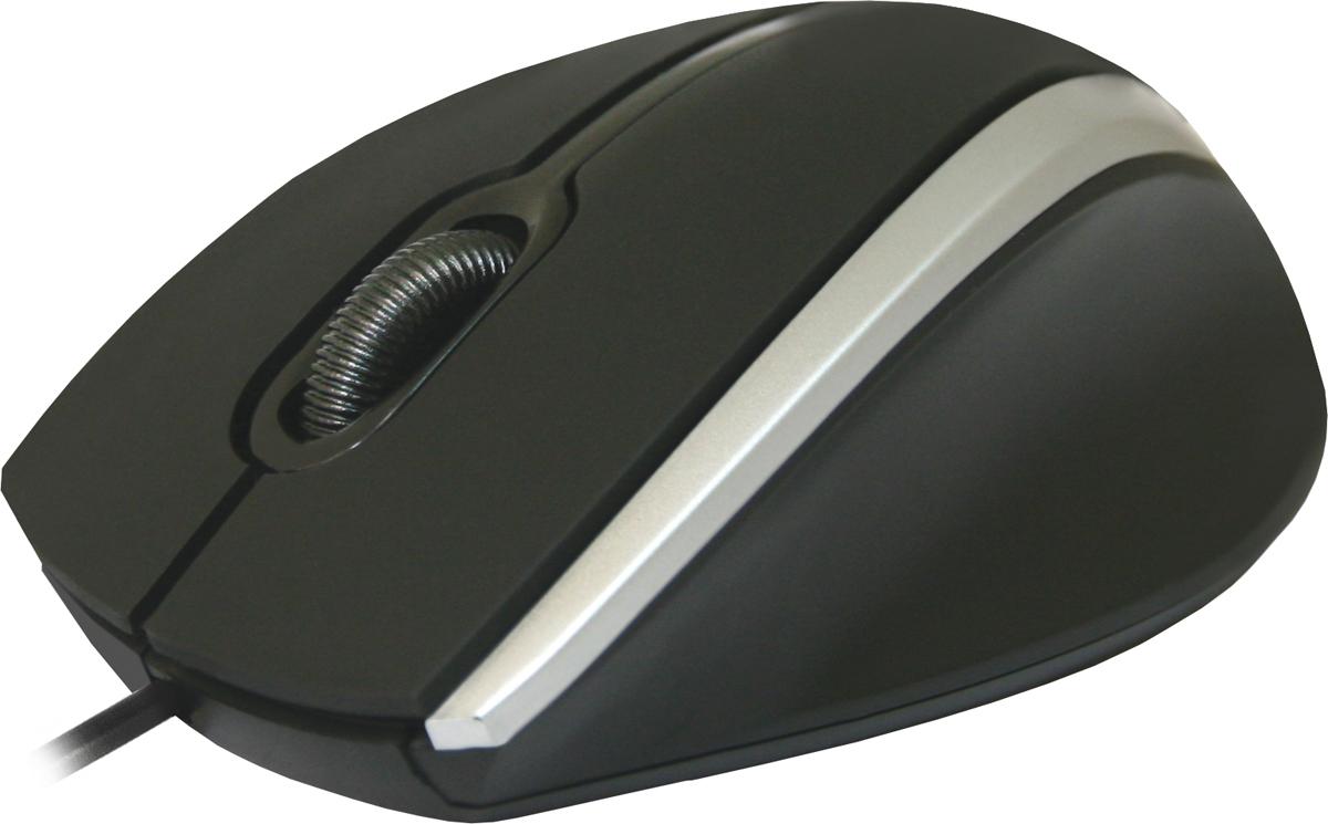 Проводная оптическая мышь Defender MM-340, Black Gray