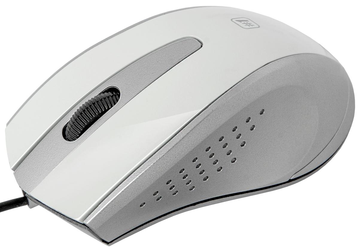 Мышь Defender MM-920, White Gray оптическая