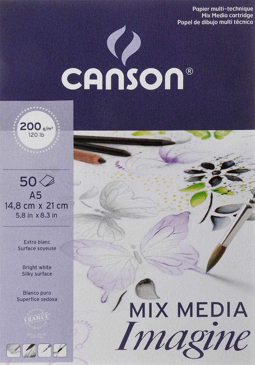 Фото - Canson Альбом для графики Imagine 14,8 х 21 см 50 листов canson альбом для смешанных техник xl mix media 14 8 х 21 см 15 листов