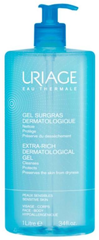 UriageОбогащенный дерматологический гель для лица и тела, 1000 мл Uriage