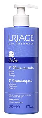 Uriage Очищающее пенящееся масло для кожи лица Bebe, 500 мл цены онлайн