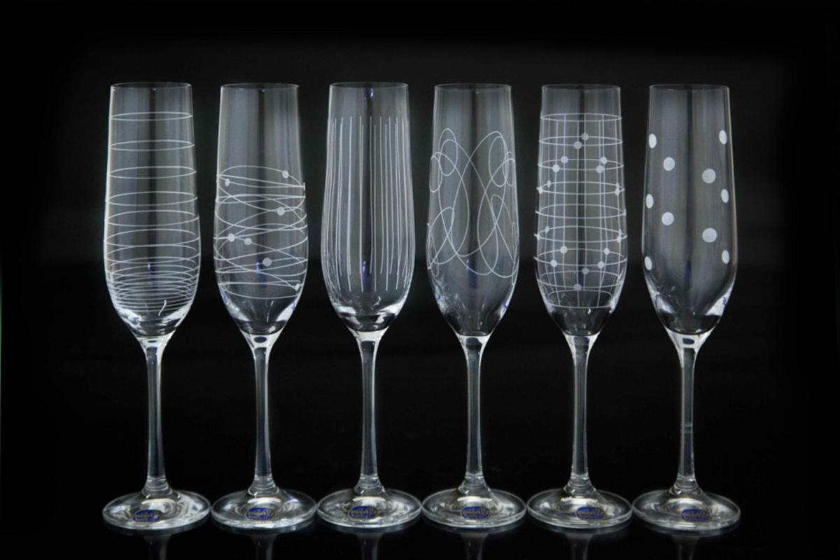 Набор бокалов для шампанского Bohemia Crystal Виола. Elements, 190 мл, 6 шт набор бокалов для шампанского bohemia crystal оливия 190 мл 6 шт
