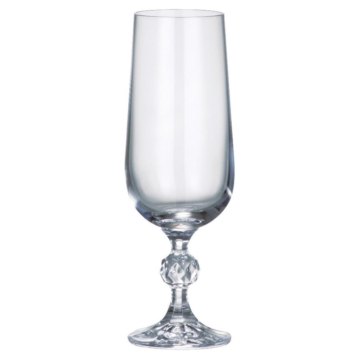 Набор бокалов для шампанского Bohemia Crystal Клаудия, 180 мл, 6 шт. 40149/180 набор бокалов для шампанского bohemia crystal оливия 190 мл 6 шт