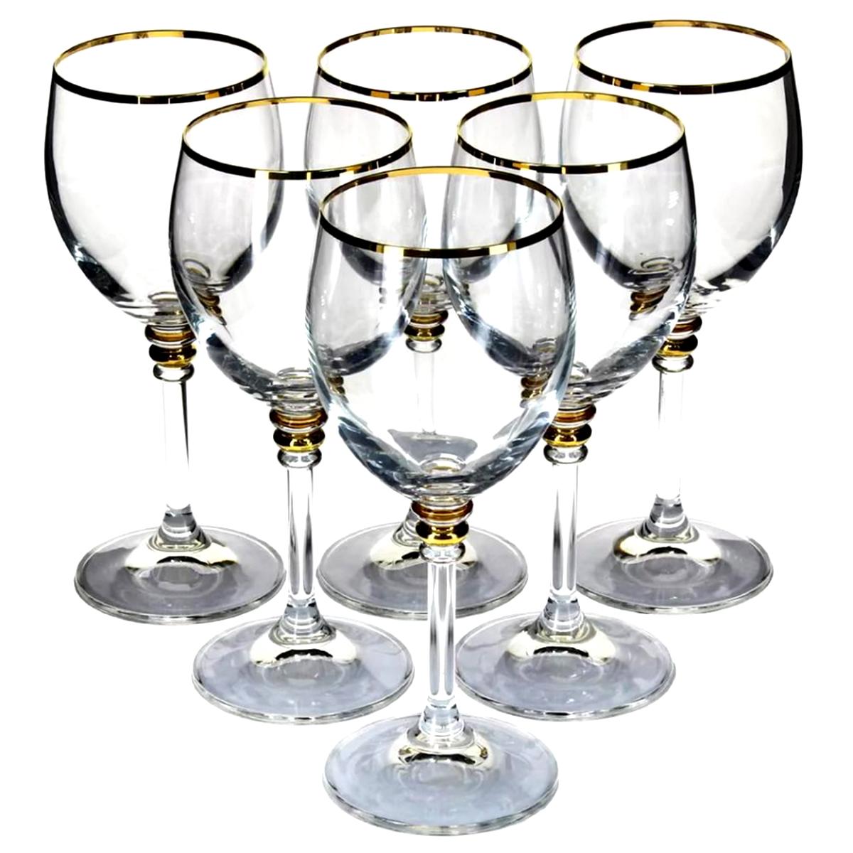Набор бокалов для вина Bohemia Crystal Оливия, 240 мл, 6 шт набор бокалов для шампанского bohemia crystal оливия 190 мл 6 шт