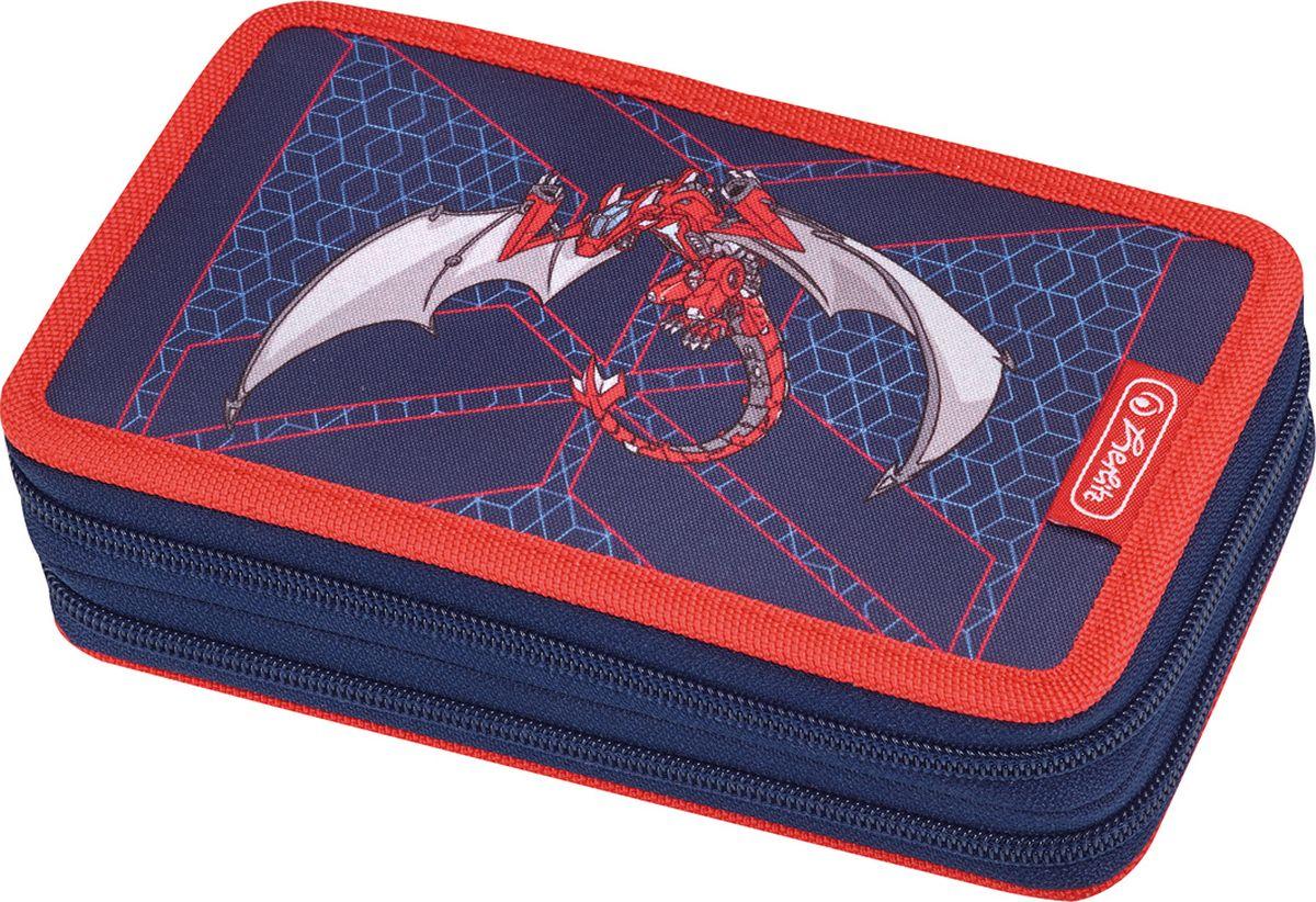 Herlitz Пенал с наполнением Red Robo Dragon 23 предмета недорого