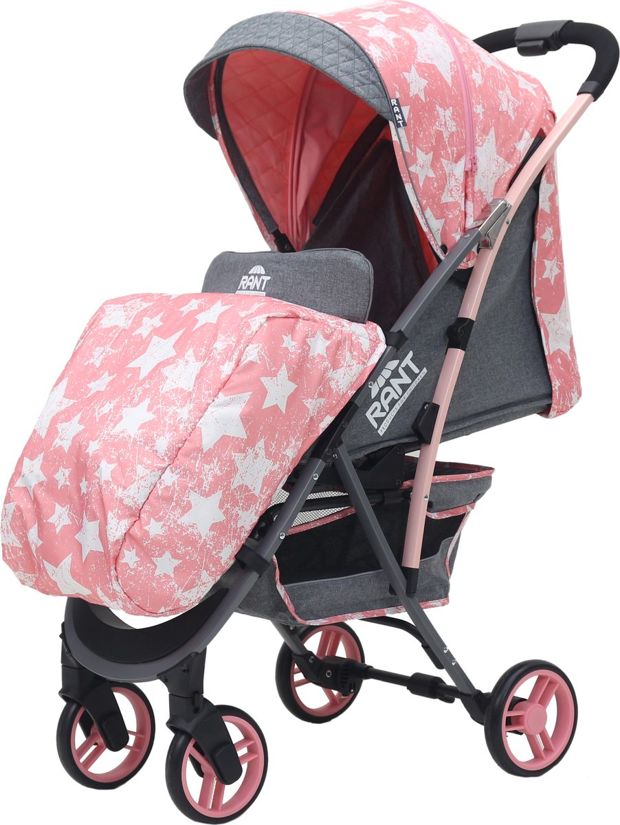 Rant Коляска прогулочная Largo Stars цвет розовый коляска прогулочная rant largo stars graphite