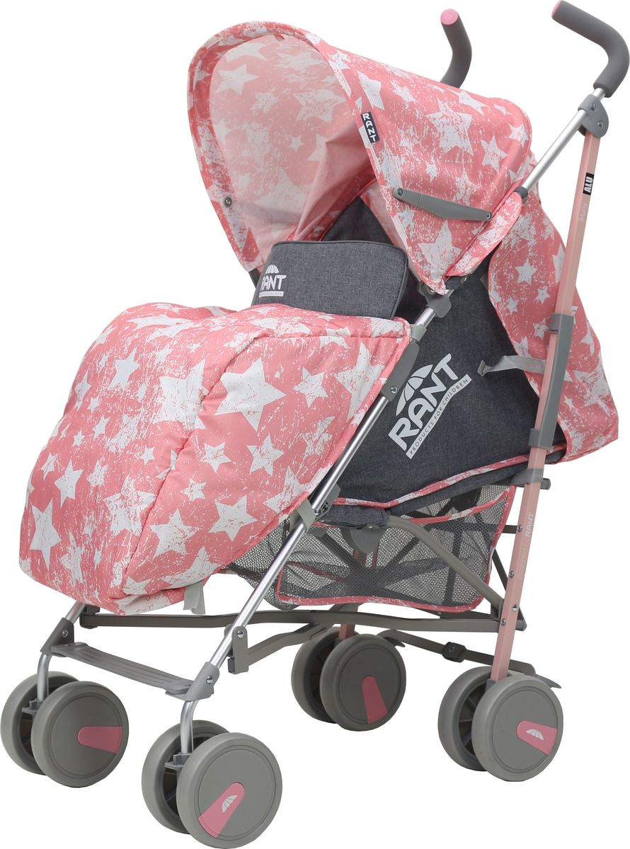Rant Коляска прогулочная Molly Alu Stars цвет розовый коляска прогулочная rant largo stars graphite