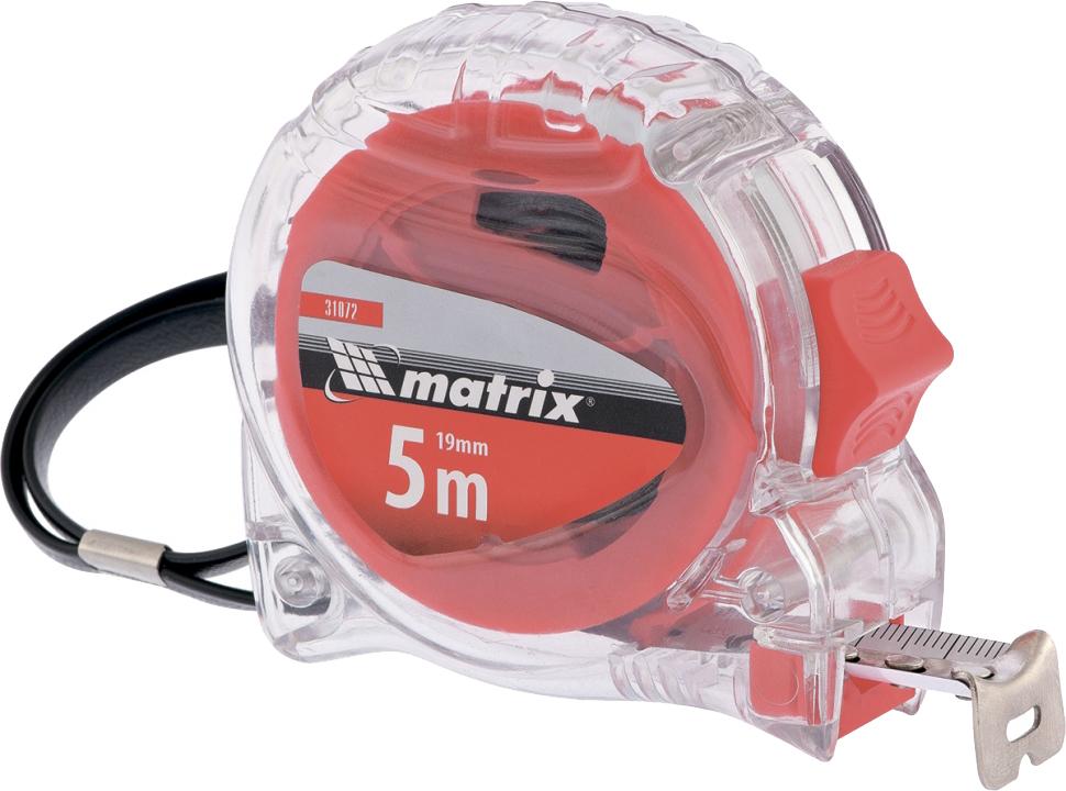Рулетка Matrix Crystal, цвет: красный, 25 мм х 5 м