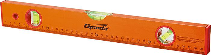 """Уровень """"Sparta"""", с линейкой, 3 глазка, цвет: желтый, 400 мм"""