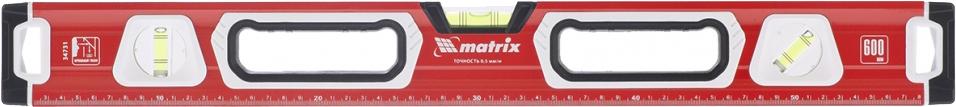 """Уровень """"Matrix"""", магнитный, фрезерованный, 2 глазка + 1 зеркальный, с рукоятками, 600 мм"""