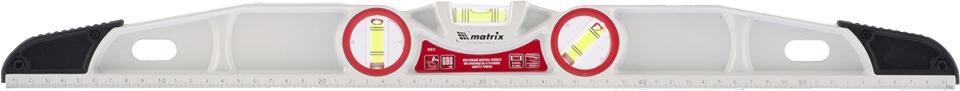 """Уровень """"Matrix"""", литой, фрезерованный, с двумя ударными площадками, 3 глазка, 600 мм"""