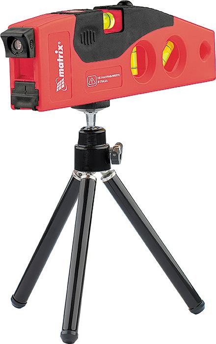 """Уровень лазерный """"Matrix"""", 4 глазка, со штативом 220 мм, 180 мм"""