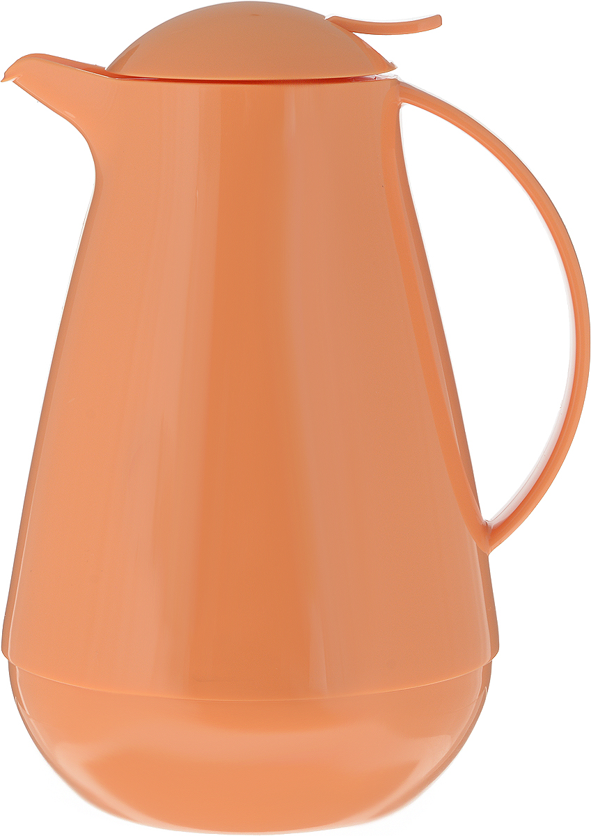 Термос с крышкой-дозатором Family, цвет: оранжевый, 1 л.