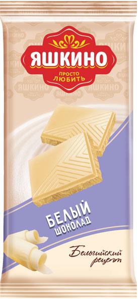 Яшкино белый шоколад, 90 г попкорн holy corn кокос шоколад 50 г 20 шт кокос бельгийский шоколад шоколад 50