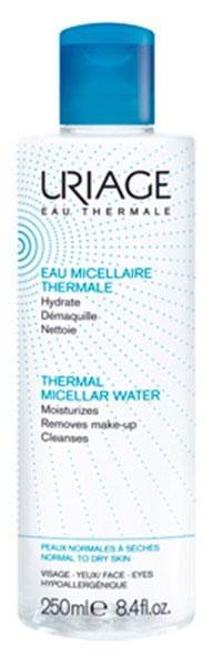 Uriage Мицеллярная вода очищающая для нормальной и сухой кожи, 250 мл мицеллярная вода для лица uriage 250 мл очищающая без ароматизаторов