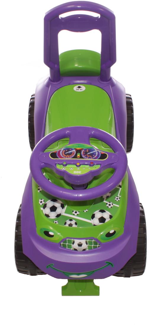 Doloni Машинка-каталка Автошка, цвет зеленый фиолетовый