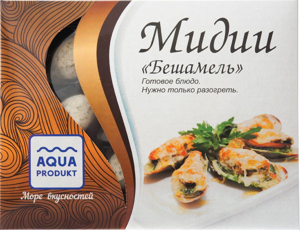 Аквапродукт Мидии в створке раковины в заливке Бешамель, 180 г аквапродукт улитки в раковине версаль 150 г